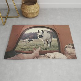ALPACA  - CAMPING WITH FRIENDS Rug