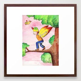 Flying Like A Bird Framed Art Print