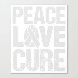 Peace Love And Cure Cancer Awareness T-Shirt Canvas Print