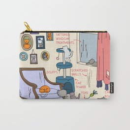 Cat Lady's Home Carry-All Pouch