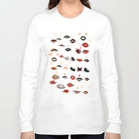 lips Long Sleeve T-shirts featuring Lips by Visualcrafter