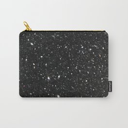 Black Glitter Carry-All Pouch