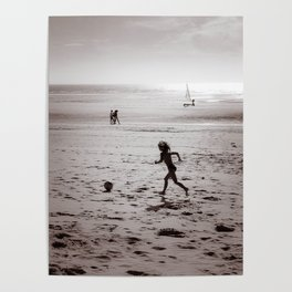 Foot on the beach Poster