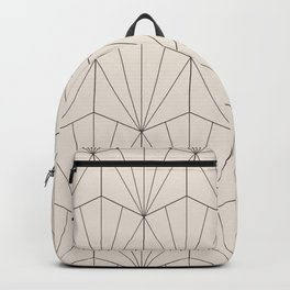 Gisela Geometric Line Pattern - Black & White Backpack