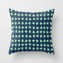 airplants on dark navy Throw Pillow