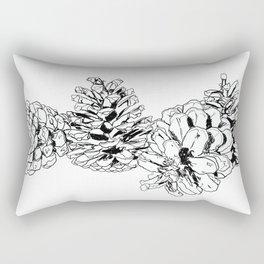 White Pine Cones Rectangular Pillow