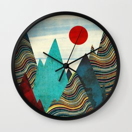 Color Peaks Wall Clock