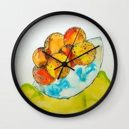 Juicy Orange Bowl Wall Clock
