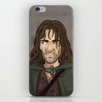 aragorn iPhone & iPod Skins featuring Aragorn by quietsnooze