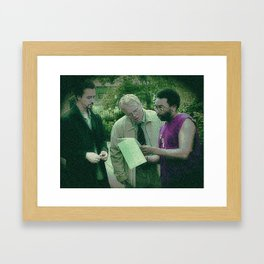 A Script For Ed & Philip By A Spike Framed Art Print