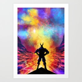My Hero Academia Inspired Painting   ALL MIGHT Art Print