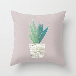 Cute little plant Throw Pillow