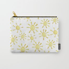 Happy Sunshine Print Carry-All Pouch