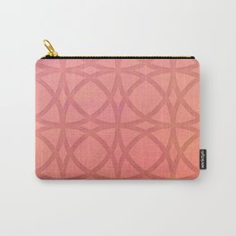 coral pink minimal pattern with geometric lines Carry-All Pouch