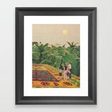 Flying through the fields at dawn Framed Art Print