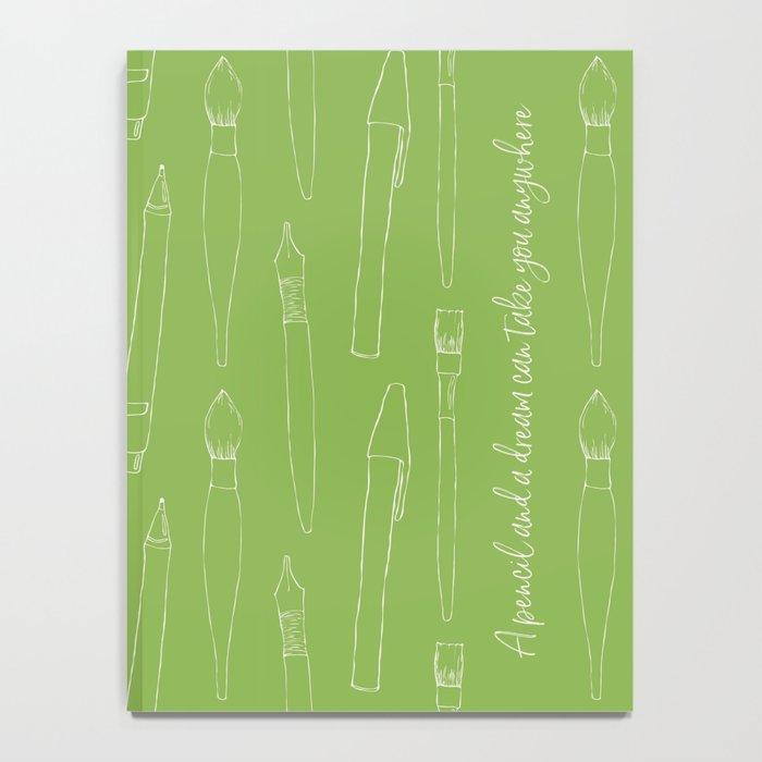 A pencil and a dream... greenery! Notebook