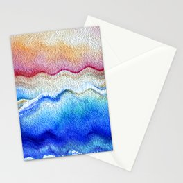 Sunset waves in watercolor Stationery Cards