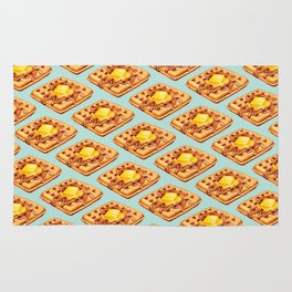 Waffle Pattern Rug