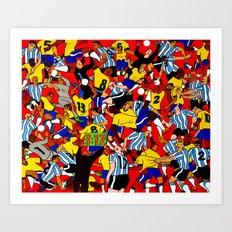 Brasil x Argentina Art Print