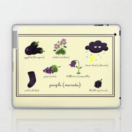 Colors: purple (Los colores: morado) Laptop & iPad Skin