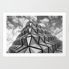 The Architectural Cladding from Leeds University Car Park Art Print