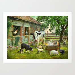 Barnyard Chatter Art Print