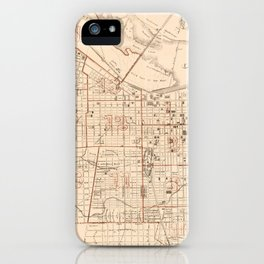 Vintage Map of Louisville KY (1879) iPhone Case