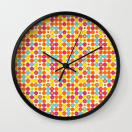 Funny Polkas-Yellow and orange Wall Clock