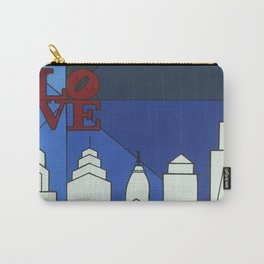 blue LOVE shine Carry-All Pouch