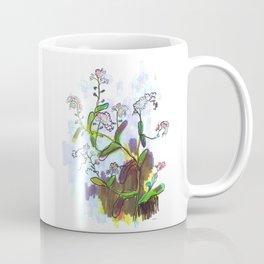 "Original Flower print ""Forget Me Not"" Coffee Mug"