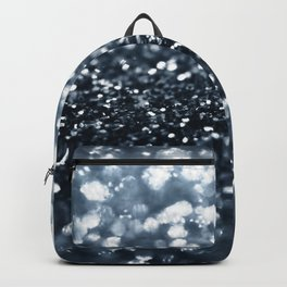 Midnight Navy Blue Glitter #1 #shiny #decor #art #society6 Backpack
