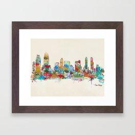 San Diego California skyline Framed Art Print