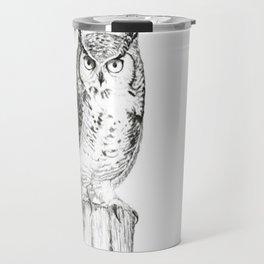 My great horned owl: Nuit Travel Mug