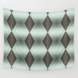 Mint Green, Cream & Chocolate Brown No. 5 Wall Tapestry