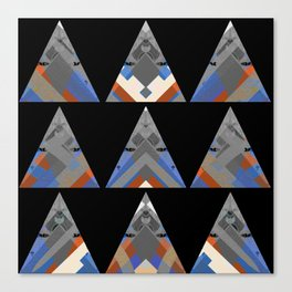 Simple Neo Tribal Triangle Print Canvas Print