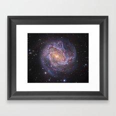 Galaxy fossils Framed Art Print