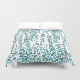 string of pearl watercolor Duvet Cover