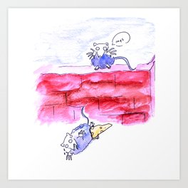 Naughty mice Art Print