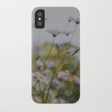 Abstract Flowers iPhone X Slim Case