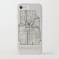minneapolis iPhone & iPod Cases featuring Minneapolis by linnydrez