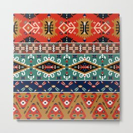 Navajo Arrow Pattern Metal Print