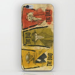 The Good The Bad The Ugly Cats iPhone Skin