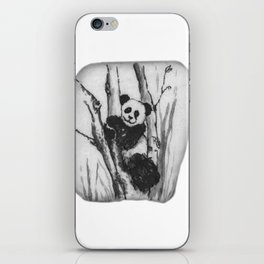 Panda Bear in a tree by annmariescreations iPhone Skin