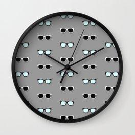 All Them Glasses - Grey Wall Clock