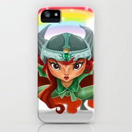 Lola, rainbow's heroine iPhone Case