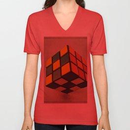 Cube of Rube Unisex V-Neck