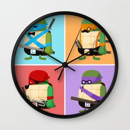 Turtles in Disguise Wall Clock