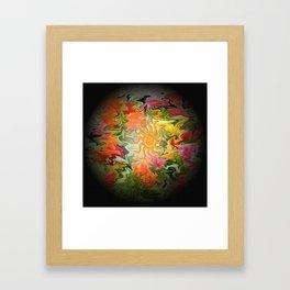 Sunlit Garden..... Framed Art Print