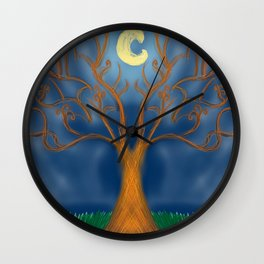 Glowing Tree Wall Clock