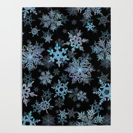 """""""Embroidered"""" Snowflakes Poster"""